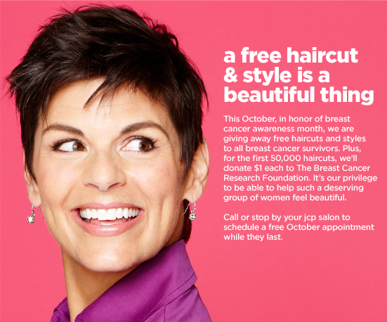 jcpenney free haircuts jcpenney free haircuts for breast cancer survivors 2655 | Freebies2Deals JcPenney Haircut