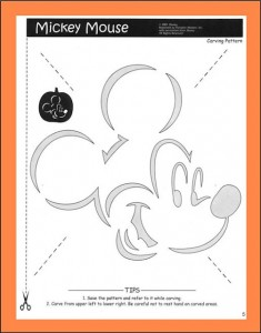 It's just a photo of Légend Mickey Mouse Pumpkin Stencils Printable