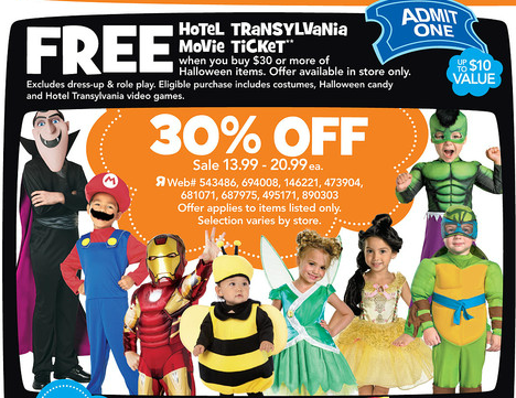 This week at Toys R Us all costumes ...  sc 1 st  Freebies2Deals & Toys R Us: Halloween Costumes 30% Off! Plus FREE Hotel Transylvania ...