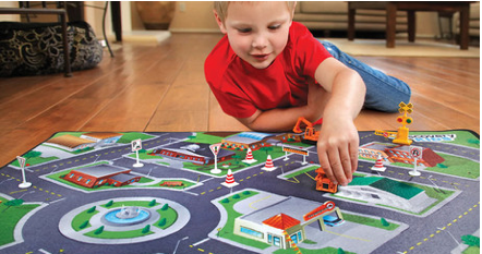 rug country town kids play mat