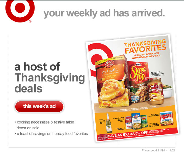 Heads up more thanksgiving grocery deals on target s