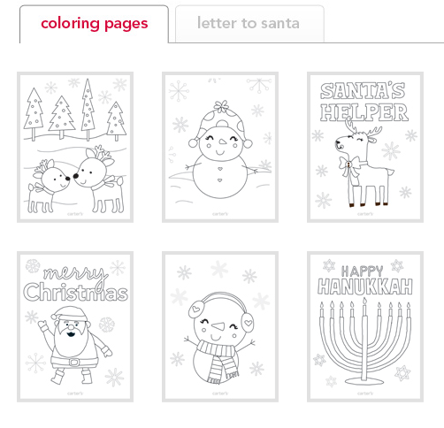 FREE Christmas Coloring Pages and Santa Letter  Freebies2Deals