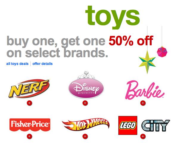Popular Toy Brands : Target buy get off on select toy brands