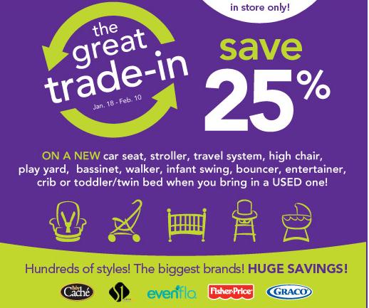 Trade In Car Seat At Babies R Us September 2018
