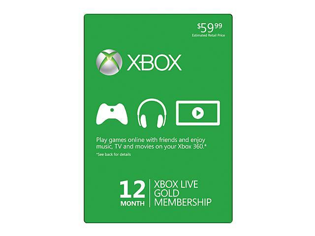 Right now through newegg on ebay you can score a 12 month xbox live