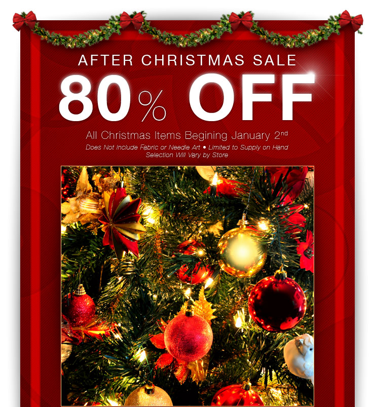 80% off Christmas Items at Hobby Lobby! - Freebies2Deals
