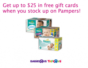 Get Up To 25 In Free Gift Cards When You Purchase Pampers