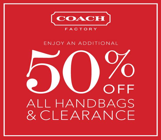 9ad55babd0 Coach Factory  50% Off All Handbags   Clearance! - Freebies2Deals