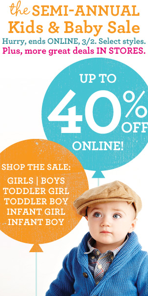 f8add6ecb Gap: Semi-Annual Kids & Baby Sale Up To 40% Off! Online and In ...