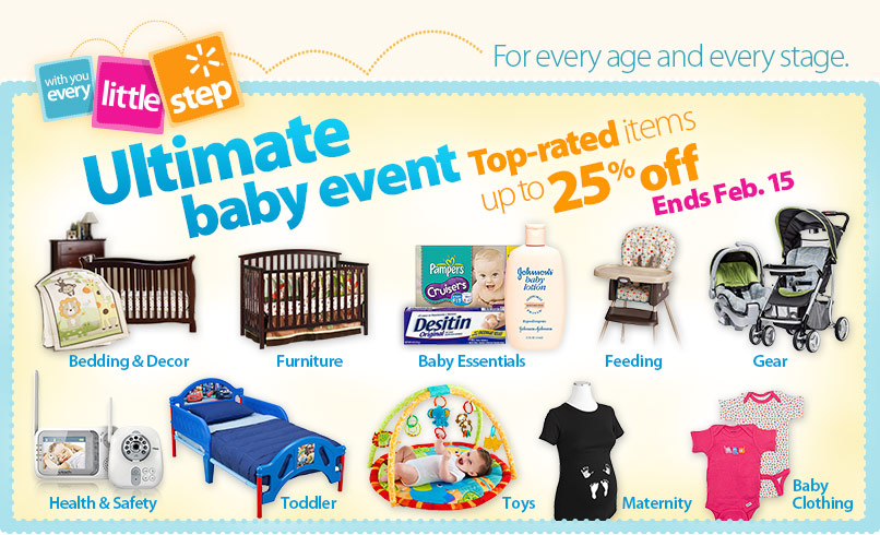 Ultimate Baby Event At Walmart Up To 25 Off Top Items