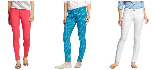 Colored skinny jeans old navy – Global fashion jeans collection