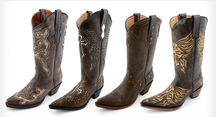 Genuine Leather Cowgirl Boots - Boot Hto