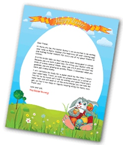 Free Letters From Easter Bunny
