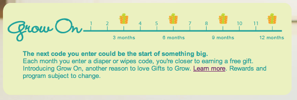 Pampers Grow On Rewards! Free Gifts At 3, 6, 9 & 12 Months ...