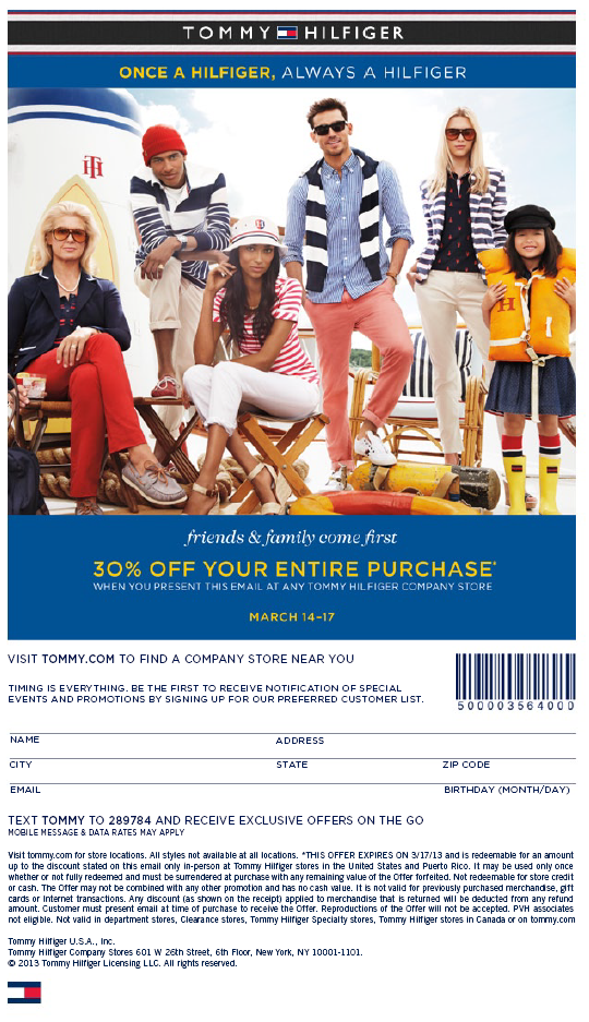 351763dc Utah Readers: Extra 30% Off at Tommy Hilfiger Outlet! (March 14-17 ...