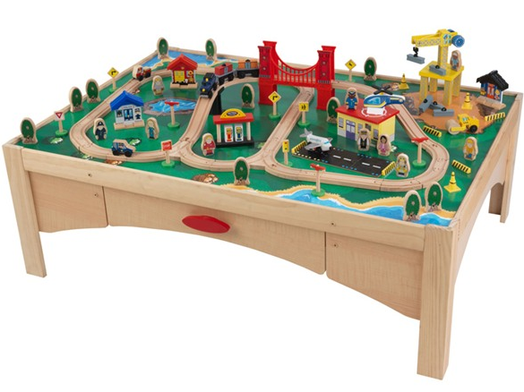 The KidKraft Wooden Activity Table with 45 Piece Train Set and Storage Bin is marked down to $59.97!  sc 1 st  Amazon S3 & Wooden train set tables arduino dcc stationary decoder