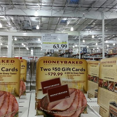 100 In HoneyBaked Ham Gift Cards Only 6399 At Costco