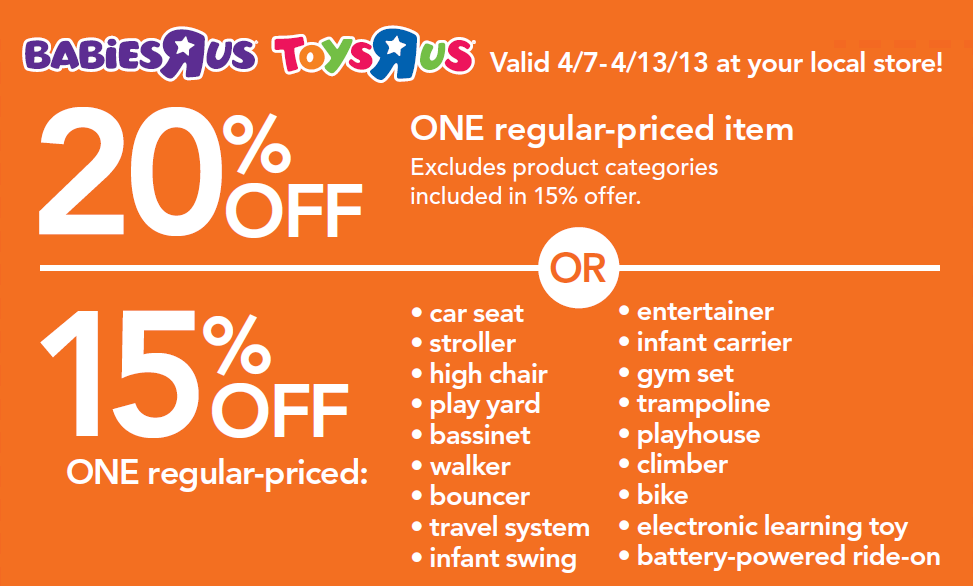 image regarding Printable Toysrus Coupon identified as Remaining Times: ToysRus/BabiesRus 20% off One particular Solution Printable