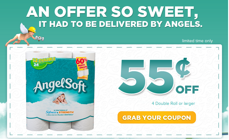 photograph about Angel Soft Printable Coupon titled Preserve $.55 Upon Angel Delicate Printable Coupon! (Fb Give