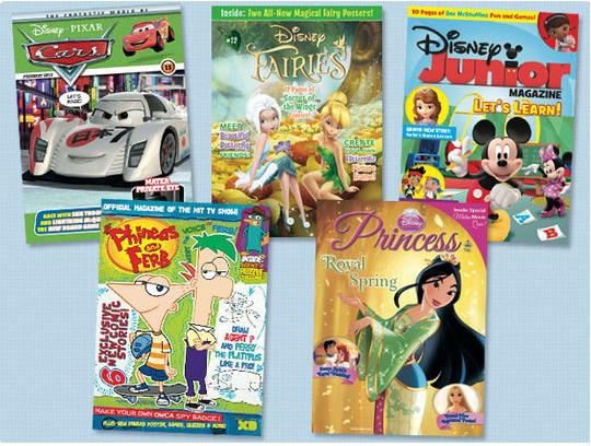 disney magazine subscription 10 disney junior princess cars and