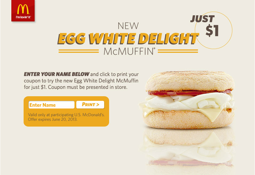Egg White Delight McMuffin