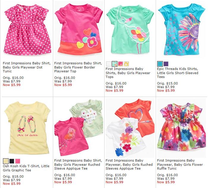 Macy s  Kid s Clothing 40%-70% Off! - Freebies2Deals 69773aaa4127