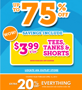 Children's place outlet coupon usa