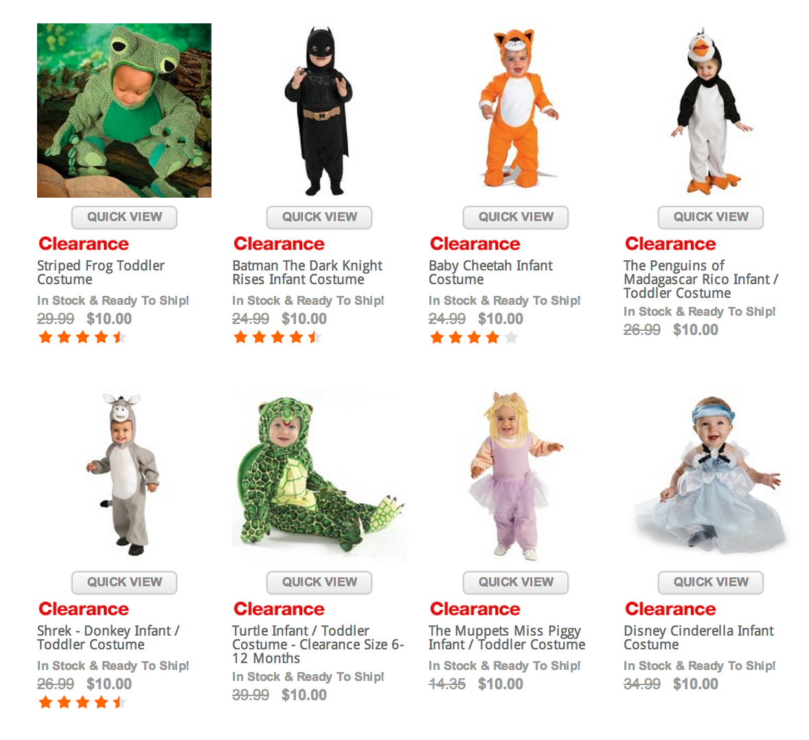 extended! $10 costume sale! save up to $60 on the best halloween