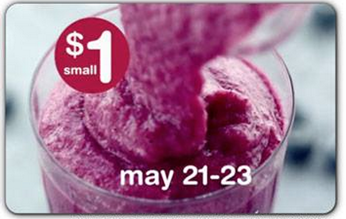 freebies2deals smoothie $1 deal