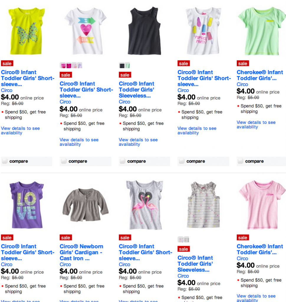 Kids, Toddler and Baby $4 Clothing Sale from Target ...
