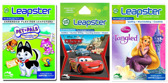 All LeapFrog LeapFrog Learning Games Featuring Disney Your kids will love learning with a Disney theme, including Doc McStuffins, Planes, Disney princesses and more.