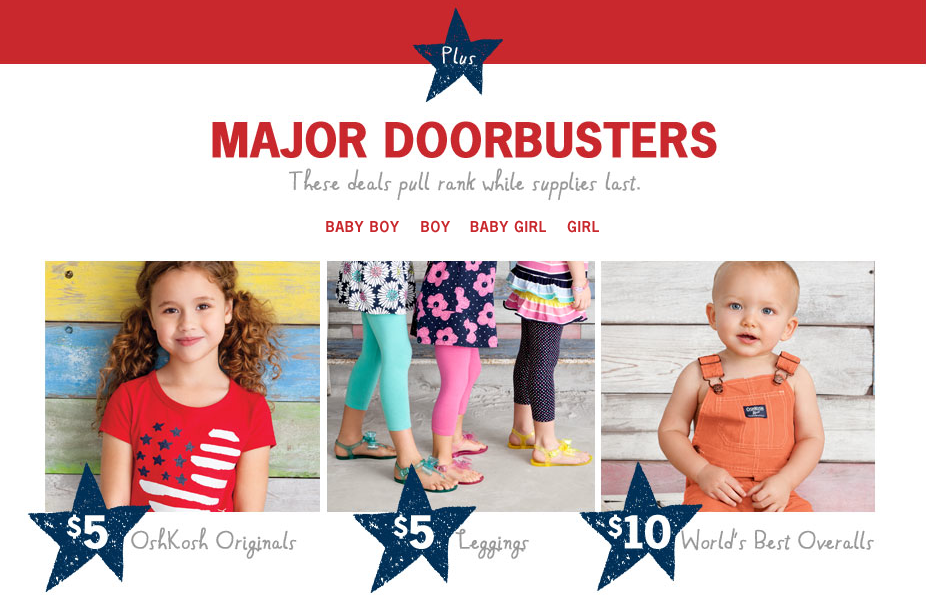 Milled has emails from OshKosh B'gosh, including new arrivals, sales, discounts, and coupon codes.