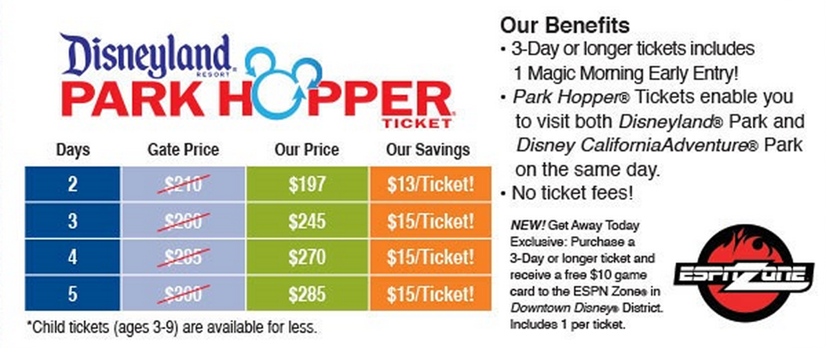 Disneyland la discount coupons