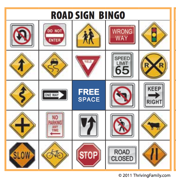 Smart image in printable road signs