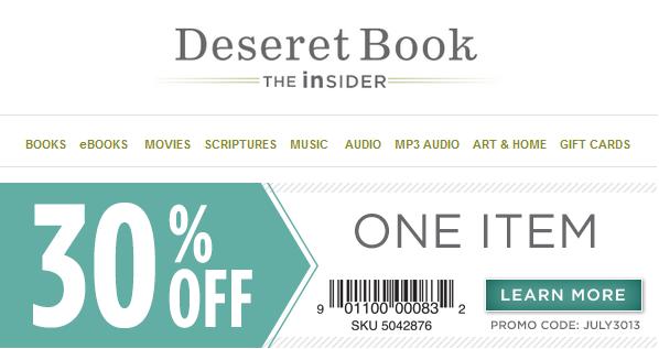 Deseret Book 30 Off One Regular Item Online