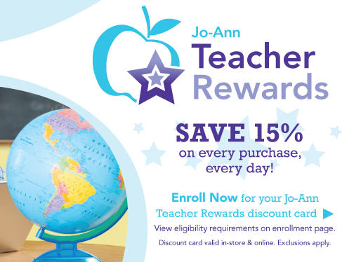 Joanns teacher rewards save 15 on every purchase freebies2deals joanns teacher rewards save 15 on every purchase gumiabroncs Image collections