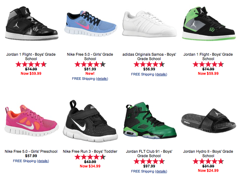 Kids Foot Locker is one shop we are in often. They have a huge selection of high quality shoes for the kids with the brands we love, and great new designs