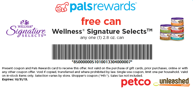Discount coupons for petco