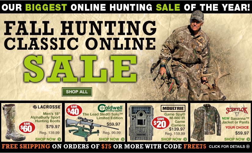 Bass Pro Shops Fall Hunting Classic Online Sale! Biggest Online ...