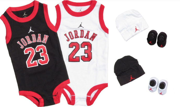 groupon for jordan 3 piece infant outfit set 24. Black Bedroom Furniture Sets. Home Design Ideas