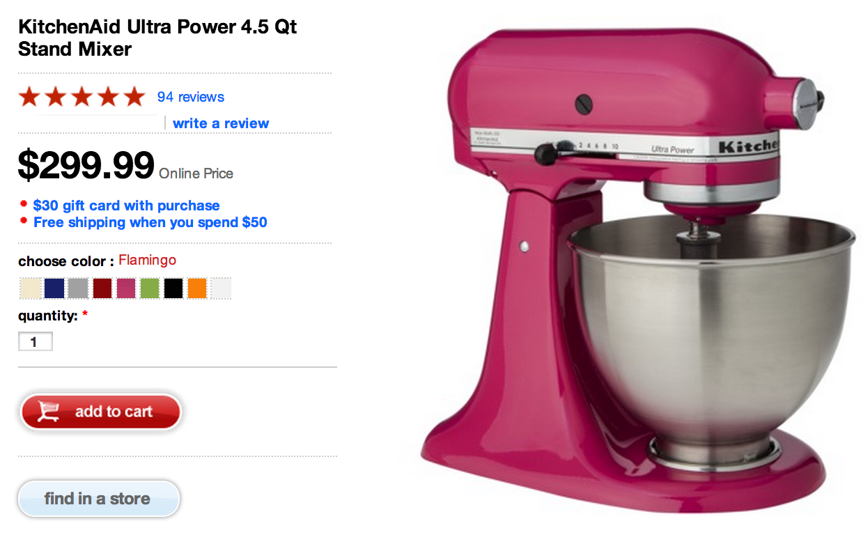 Kitchenaid Ultra Power 4 5 Qt Stand Mixer As Low As 242 50 Shipped