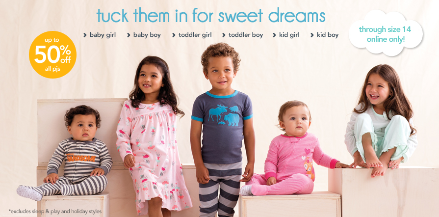 a11ecff01 Carter's: Up To 50% Off All Pajamas! Plus, Enjoy An Additional 25 ...