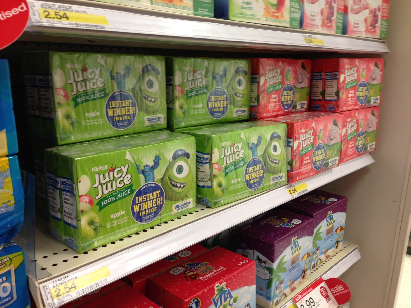 Monsters Inc Juicy Juice Boxes