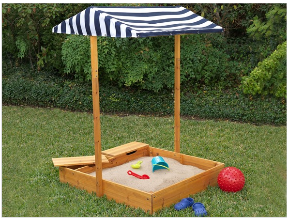 Woot.com KidKraft Outdoor Sandbox with Canopy u0026 Mesh Sand Cover Only $64.99 Shipped! (Reg $179.99) & Woot.com: KidKraft Outdoor Sandbox with Canopy u0026 Mesh Sand Cover ...