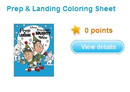 Disney rewards new completely free items added to their for Prep and landing coloring pages