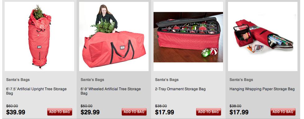 beyond the rack christmas tree storage bags holiday storage event - Christmas Tree Bags Storage