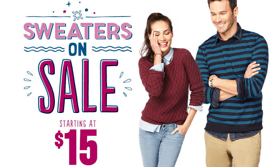 Old Navy: $15 Off Your Purchase Of $50 Or More! Plus, $15 Sweater ...