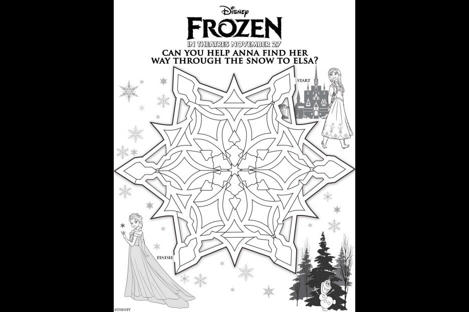 FREE Disney Activity Sheets Featuring Disneys New Movie Frozen