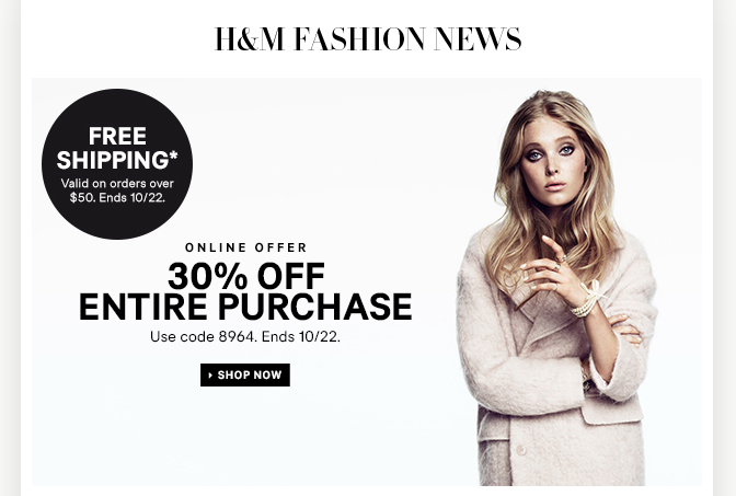 H&m coupons codes