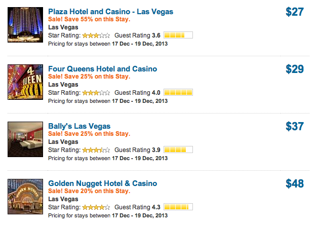 Expedia enjoy up to an extra 30 off hotels in las vegas for Las vegas hotels black friday deals